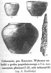 Wieś Całowanie- wykopaliska zIw. n.e.